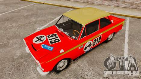 Lotus Cortina 1963 для GTA 4 салон