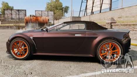 GTA V Dewbauchee Rapid GT для GTA 4 вид слева