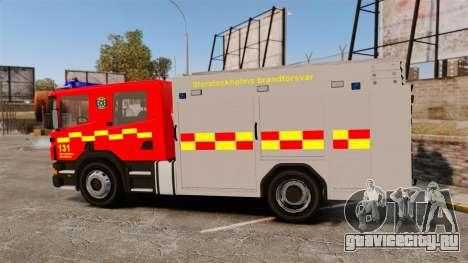 Scania 94D 260 BAS1 Stockholm Fire Brigade [ELS] для GTA 4 вид слева