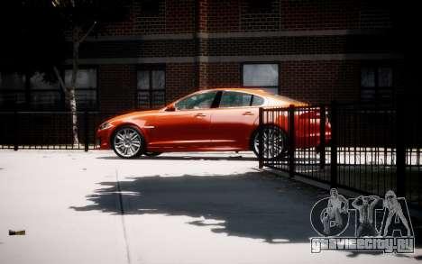 Jaguar XF-R 2012 v1.1 для GTA 4 вид слева