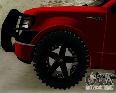 Ford F-150 для GTA San Andreas вид изнутри