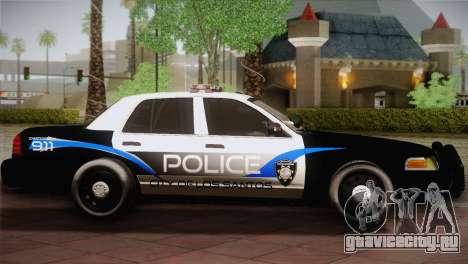 Ford Crown Victoria Police Interceptor 2009 для GTA San Andreas вид слева