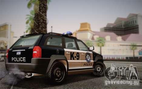 NFS Suv Rhino Light - Police car 2004 для GTA San Andreas вид сзади слева
