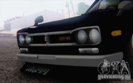 Nissan Skyline 2000 GTR Drift для GTA San Andreas вид справа