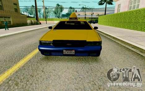GTA V Taxi для GTA San Andreas вид слева