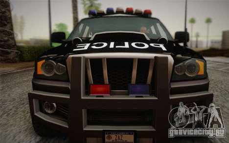 NFS Suv Rhino Heavy - Police car 2004 для GTA San Andreas вид сзади