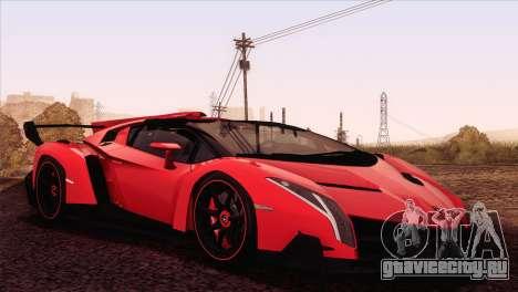 Lamborghini Veneno Roadster LP750-4 2014 для GTA San Andreas вид слева