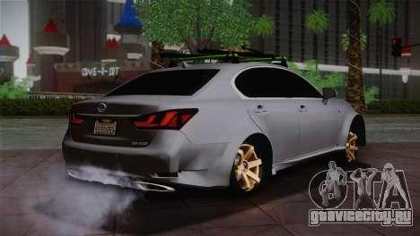 Lexus GS250 F для GTA San Andreas вид сзади слева