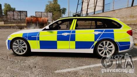 BMW 330d Touring (F31) 2014 Police [ELS] для GTA 4 вид слева