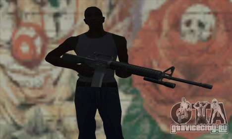 M16 из L4D для GTA San Andreas третий скриншот