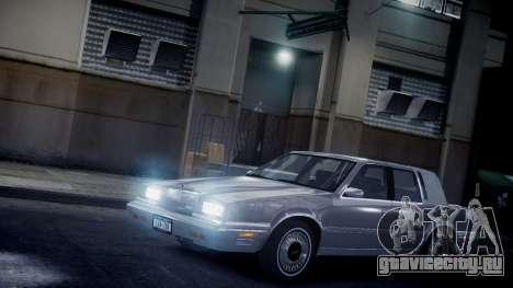 Chrysler New Yorker 1988 для GTA 4 вид сбоку