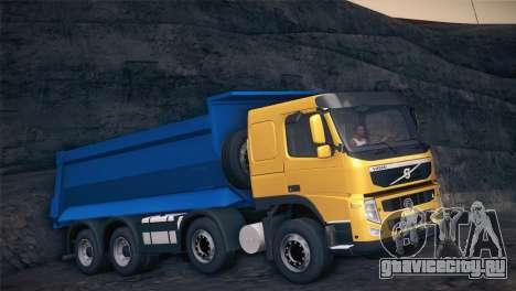 Volvo FM12 8X4 Dumper для GTA San Andreas вид слева
