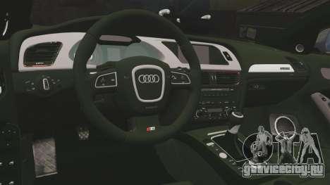 Audi S4 2013 Metropolitan Police [ELS] для GTA 4 вид сбоку