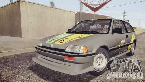 Honda Civic Si 1986 HQLM для GTA San Andreas