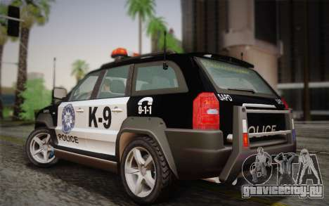 NFS Suv Rhino Heavy - Police car 2004 для GTA San Andreas вид сзади слева
