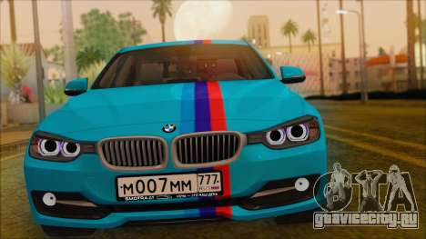 BMW 328d 2014 для GTA San Andreas вид справа