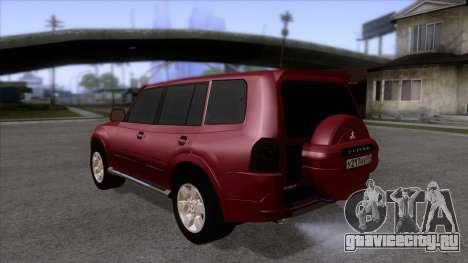 Mitsubishii Pajero IV для GTA San Andreas вид сзади слева