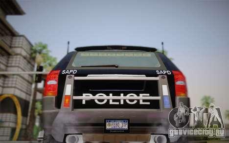 NFS Suv Rhino Heavy - Police car 2004 для GTA San Andreas вид изнутри