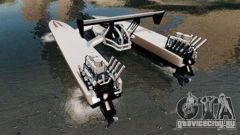 Dragboat Twin V8 для GTA 4 вид сзади слева