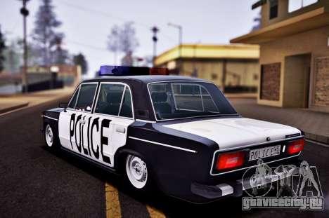 ВАЗ 2106 Police для GTA San Andreas вид слева