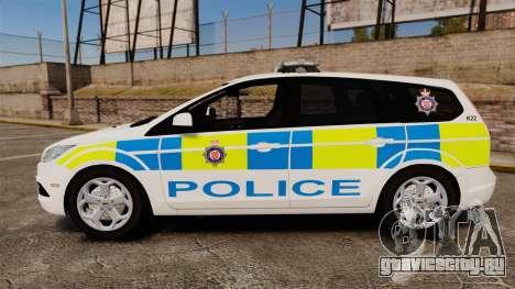 Ford Focus Estate British Police [ELS] для GTA 4 вид слева