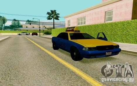 GTA V Taxi для GTA San Andreas вид справа