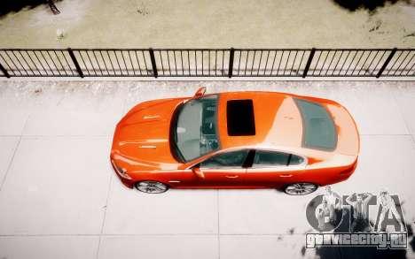 Jaguar XF-R 2012 v1.1 для GTA 4 вид сбоку