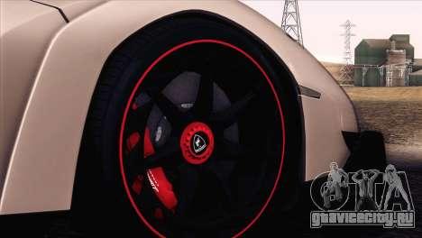 Lamborghini Veneno Roadster LP750-4 2014 для GTA San Andreas вид сверху