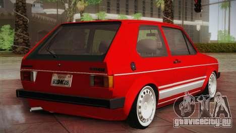 Volkswagen Golf MK1 Red Vintage для GTA San Andreas вид сзади слева