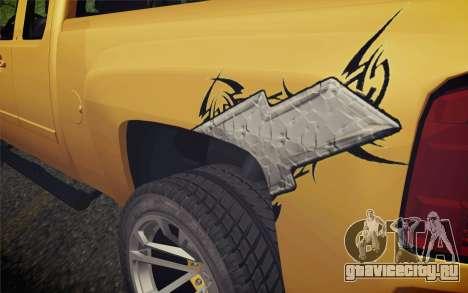 Chevrolet Silverado 2500 LTZ для GTA San Andreas вид сзади