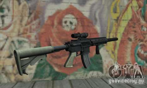 M416 with ACOG sight and silenced для GTA San Andreas второй скриншот