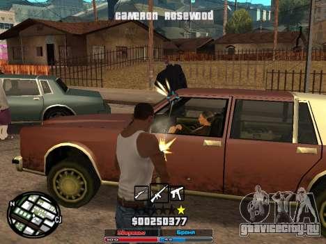 Cleo Hud Cameron Rosewood для GTA San Andreas второй скриншот