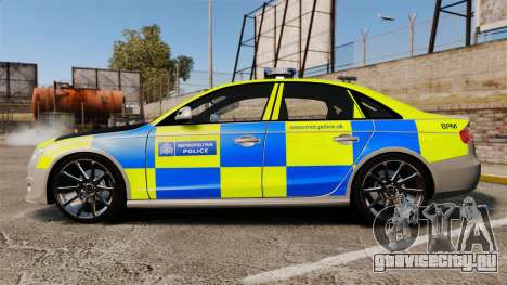 Audi S4 2013 Metropolitan Police [ELS] для GTA 4 вид слева