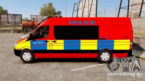 Mercedes-Benz Sprinter 313 CDI Police [ELS] для GTA 4 вид слева