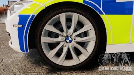 BMW 330d Touring (F31) 2014 Police [ELS] для GTA 4 вид сзади