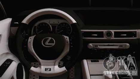 Lexus GS250 F для GTA San Andreas вид сзади