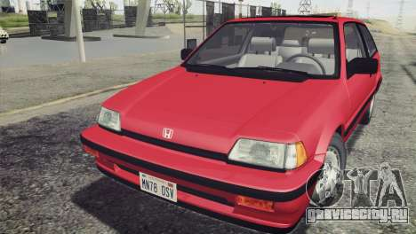 Honda Civic Si 1986 HQLM для GTA San Andreas вид справа