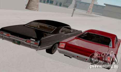Plymouth Road Runner 383 1969 для GTA San Andreas вид сверху