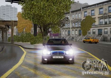 Mercedes-Benz E280 Beta для GTA 4 вид изнутри