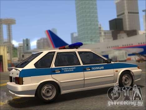 ВАЗ 2114 Полиция ДПС для GTA San Andreas вид снизу