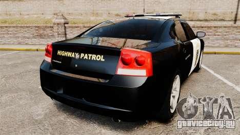 Dodge Charger 2010 LCHP [ELS] для GTA 4 вид сзади слева