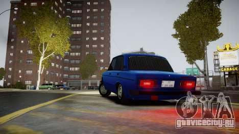 VAZ 2106 Baku для GTA 4 вид сзади слева