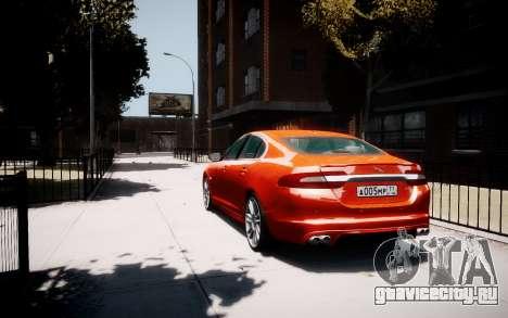 Jaguar XF-R 2012 v1.1 для GTA 4 вид сзади слева