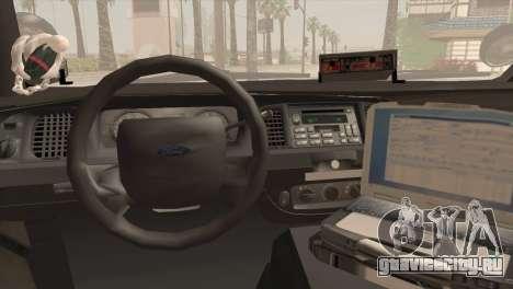 Ford Crown Victoria Police Interceptor 2009 для GTA San Andreas вид сзади