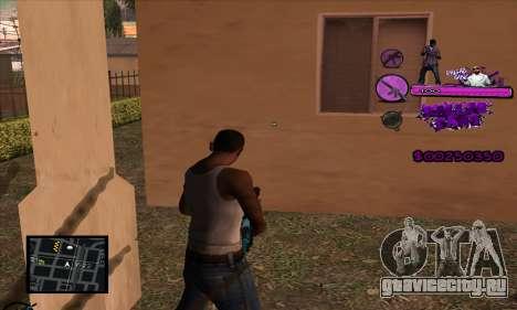 C-HUD Ballas Gang для GTA San Andreas второй скриншот