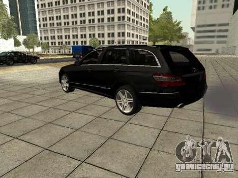 Mercedes-Benz w212 E-class Estate для GTA San Andreas вид сзади