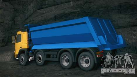 Volvo FM12 8X4 Dumper для GTA San Andreas вид сзади