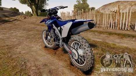 Kawasaki KX250F (Yamaha) для GTA 4 вид сзади слева