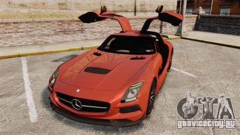 Mercedes-Benz SLS 2014 AMG Black Series для GTA 4 вид снизу