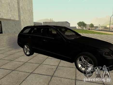 Mercedes-Benz w212 E-class Estate для GTA San Andreas вид сзади слева